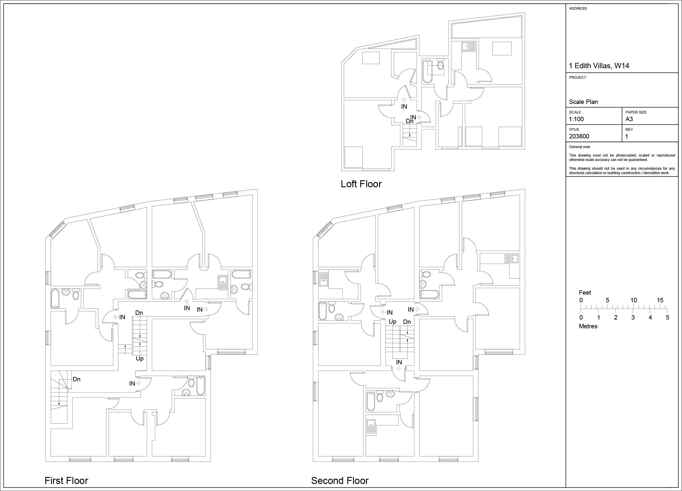 Scaled Plans Putney